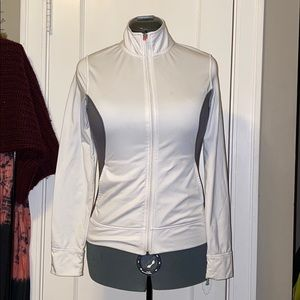 White and Gray Light Jacket